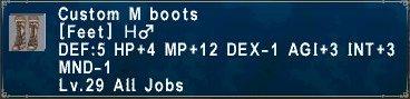 Custom M boots