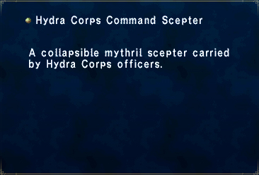 Key item hydra corps command scepter