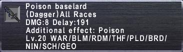 Poison Baselard