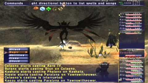 FFXI NM Saga 365 Celaeno (Voidwatch NM) Full Battle
