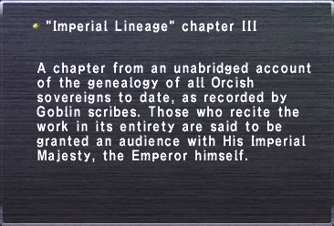Imperial Lineage chapter III