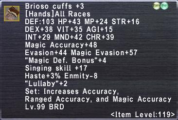 Brioso Cuffs +3