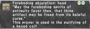 F.Abjuration Hd.