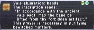 Vale Abjuration Hands