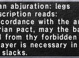 Aquarian Abjuration: Legs