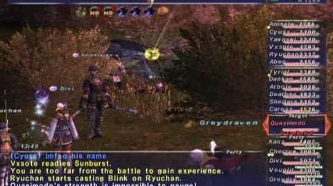 FFXI NM Saga 299 Quasimodo NM Full Battle