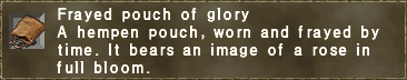 Frayed pouch of glory