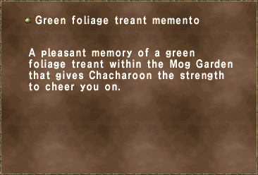 Green foliage treant memento