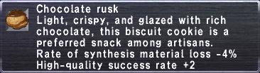 Chocolate rusk