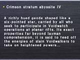 Crimson Stratum Abyssite IV