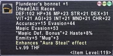 Plunderer's Bonnet +1