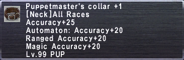 Puppetmaster's Collar +1
