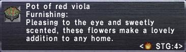Red Viola Pot