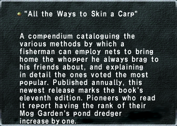 All the ways to skin a carp