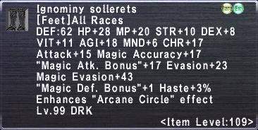Ignominy Sollerets