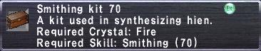Smithing Kit 70