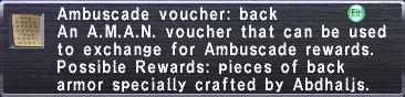 Ambuscade Voucher Back