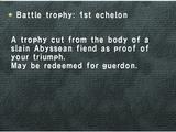 Battle Trophy: 1st Echelon