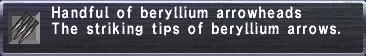 Beryllium Arrowheads
