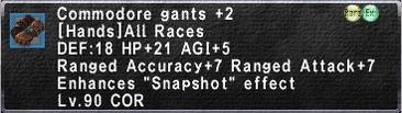 Commodore Gants +2