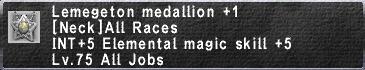 Lemegeton medallion+1