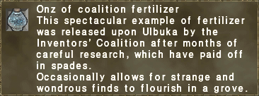 Onz of coalition fertilizer