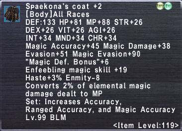 Spaekona's Coat +2