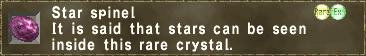 Star spinel