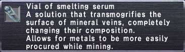 Vial of smelting serum