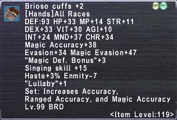 Brioso Cuffs +2