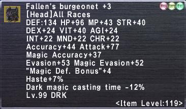 Fallen's burgeonet +3