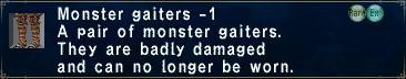 Monster gaiters minus 1