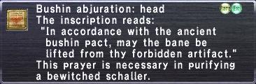 Bushin abjuration head