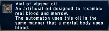 Plasma Oil