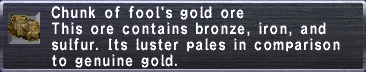 Fool's Gold Ore