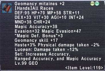 Geomancy Mitaines +2