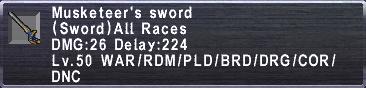 Musketeer's Sword