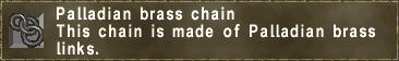 Palladian brass chain