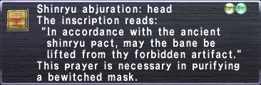 Shinryu abjuration head