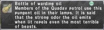 Warding oil
