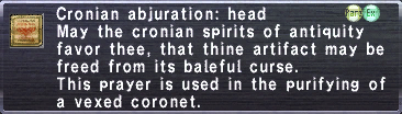 Cronian Abjuration Head