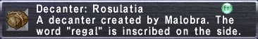 Decanter Rosulatia