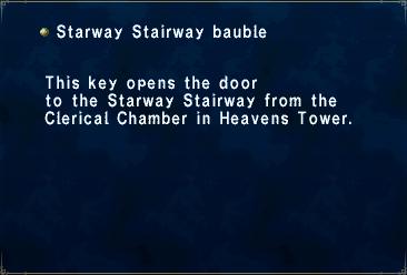 Key item starway stairway bauble