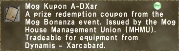 Mog Kupon A-DXar