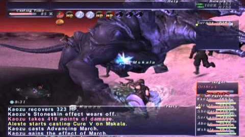 FFXI NM Saga 347 Orthrus NM Full Battle