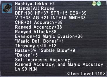 Hachiya Tekko +2