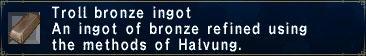 Troll Bronze Ingot