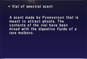 Vial of spectral scent