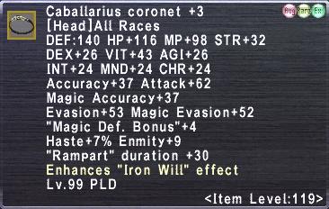 Caballarius coronet +3