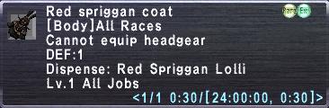 Red spriggan coat